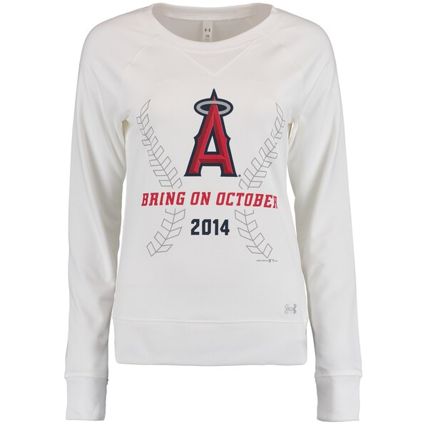 Women's Los Angeles Angels Under Armour White Brin Mike Trout jersey limited