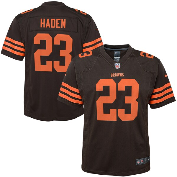 Youth Cleveland Browns Joe Haden Nike Brown Color  Green jersey