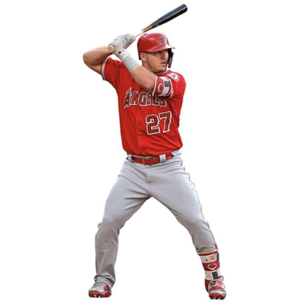Los Angeles Angels Mike Trout Fathead At Bat Lif Mike Trout jersey