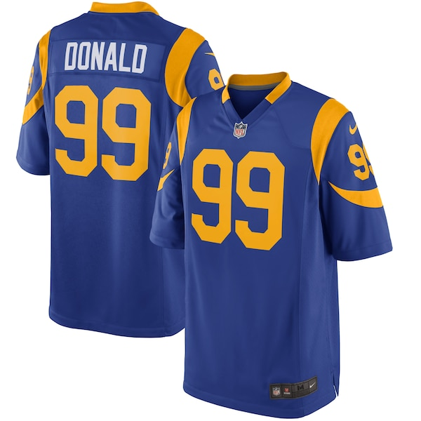 Youth Los Angeles Rams Aaron Donald Nike Royal A Nick Chubb jersey