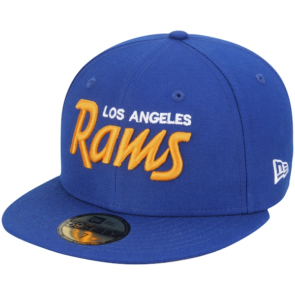 Men's Los Angeles Rams New Era Royal Throwback 59F nhl jersey pictures