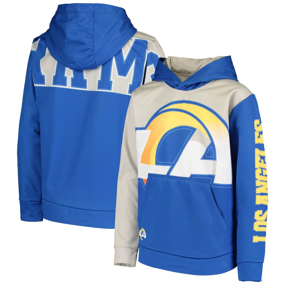 Youth Royal Los Angeles Rams Quarterback Sneak Pul jabrill peppers nfl jersey number