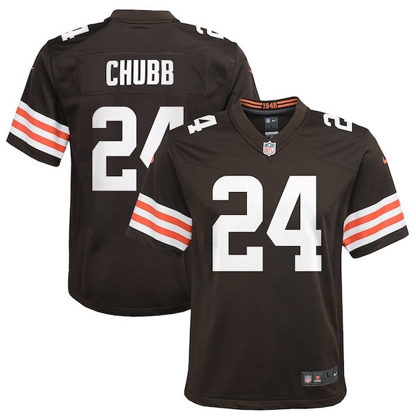 Youth Cleveland Browns Nick Chubb Nike Brown Game  Baker Mayfield jersey