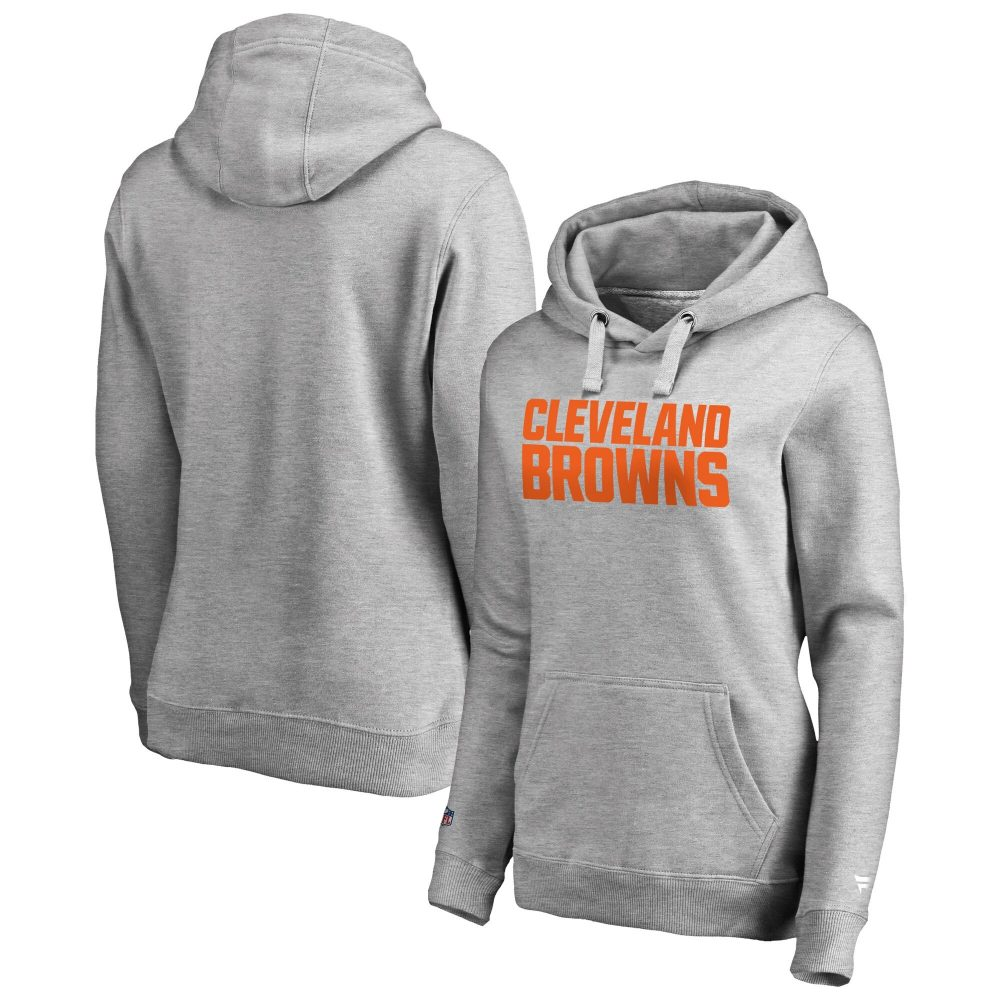 Cleveland Browns Iconic Wordmark Graphic Hoodie -  Marco Gonzales jersey