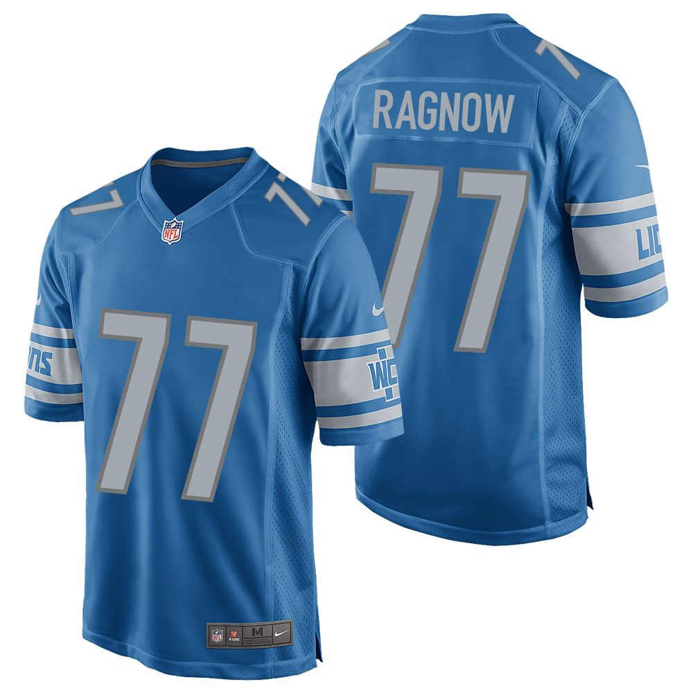 Detroit Lions Home Game Jersey - Frank Ragnow Los Angeles Rams jerseys